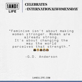 1AND1 Life celebrates women not just today, but every day. Swipe to checkout out some of our favorite quotes on this very special #InternationalWomensDay.  👸🏿👸🏾👸🏼👸🏽👸🏻