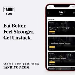 Personalized workouts, meal plans and mindset coaching. Flexible, affordable and tailored to YOU. 🙌  The @1and1you app is our most exciting product to date. Link in bio to find out why ⬆️🔗 #1AND1You
