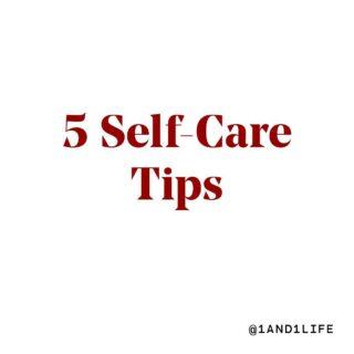 Five #SelfCareTips 🖐. Swipe ➡️, Save 📥, and Share🤲 #selfcare #fridaymood #wellnessjourney #1and1way