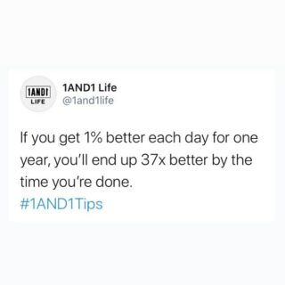 The power of tiny gains. ⏳⌛️ #1AND1Tips