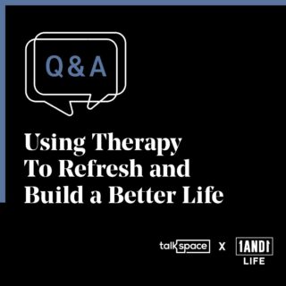 Swipe ➡️ for tips on how to use therapy to refresh and build a better life. 🖤 We're here to help 🤞 #talkspacepartner #1and1way