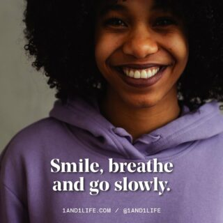 The more you smile, the more you trick your body into positively responding to your current situation.   Smile. Breathe. Do. 😊 🔗 In bio for some stress management tips from our expert team. #1AND1Way