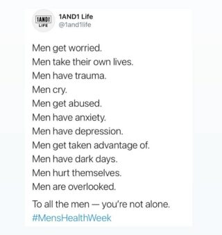 Let's do our part to keep the Men's Mental Health conversation at the forefront. The time is now. 🖤 @1and1otc #MensHealthWeek #1AND1Way . . . . #selfcarenow #selfcarehack #takecareofyourself❤️ #mentalhealthtip #mentalhealthaction #selfcareposts #selfcareideas #selfcaretime #selfcarechallenge #selfcarepost #selfcareadvice #selfcarejourney #mentalhealthcare #selfcaretip #selfcareeveryday #selfcaresis #selfcarelove #selfcaredaily #selfcarehack #selfcarequotes #mentalhealthawarenessweek #mentalhealthisimportant #selfcare #selfcaretips #mentalhealthawareness #mentalhealth