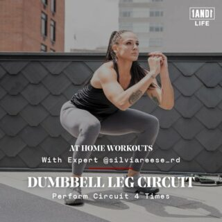 😋🚨 SNACKABLE WORKOUTS ARE BACK PEOPLE! 😋🚨 (SWIPE & SAVE For Later! ➡️📥)  Time for another Snackable Workout with 1AND1 Life Expert @silviareese_rd 💪🏽 — This is an at-home (or in-gym), dumbbell leg circuit for the ladies & the fellas! All you need is some dumbbells and space to move. 🔥  The Workout: ◽️3 Leg strengthening exercises mixed With 3 cardio based exercises that you will do after each leg to keep to keep that heart rate up! 🥵 ◼️ 4 Rounds ◻️ 1-2 mins rest after each round ◻️ SWIPE ⬅️ To the last slide for video of the 3 cardio based exercises you will do after each leg exercise!   Recommend Routine: 1️⃣ DB Curtsy Lunge To Squat  ⚫️ 8 Reps (each leg)  2️⃣ Cardio Exercise 1: High Knees  ⚪️ 30 Secs  3️⃣ DB Staggered Legs RDL ⚫️ 10 reps (each leg   4️⃣ Cardio Exercise 2: Burpee To Squat-Hold  ⚪️ 30 Secs  5️⃣ Dumbbell Reverse Lunges ⚫️ 10 reps (each leg)  6️⃣ Cardio Exercise 3: Squat Jacks  ⚪️ 30 Secs  ⏰ Rest 1-2 mins   🔁 Repeat 3 more times and you're done!  IMPORTANT EXERCISE NOTE:  🔳 Complete each exercise consecutively (back to back — circuit style) for the recommended amount of reps or time for each exercise. As soon as you're done with a leg exercise, get right into one of your cardio based exercises shown on slide 4.   🔳 Once you complete each exercise listed in the circuit for the first time including all your cardio based exer, rest for 1-2mins and repeat 3 more times. Let's get it! 🦵🏽  🔳 The rest times (or lack there of 😅) suggested are recommended for best results, but if you feel like you need more rest time at any point during the circuit, please don't hesitate to do so. 🙏🏼🙏🏾🙏🏿 #1AND1Way