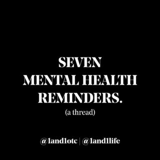 Some more reminders for #MentalHealthAwarenessMonth. 🖤🧠 @1and1otc  #1AND1Way