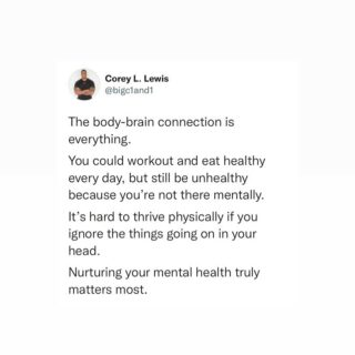 Your mental is just as important as your physical ☝️🧠.  #mentalhealthmatters #mentalhealthawareness #selfcaretips #1and1way